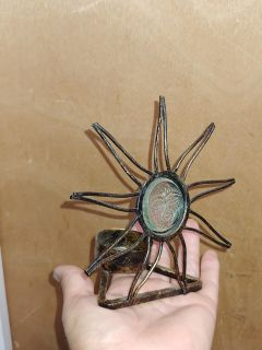 Bronze Sun candle holder