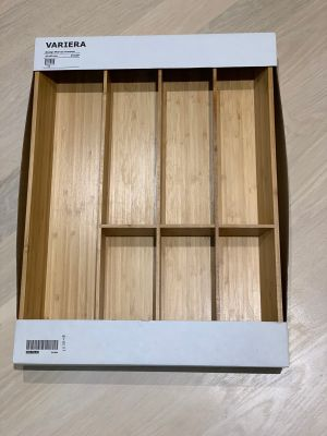 Flatware tray, bamboo