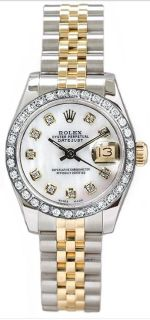 Womens Rolex Watch 100 Original Gold and SS Diamonds Designer Gaylene Stargel Chronograph