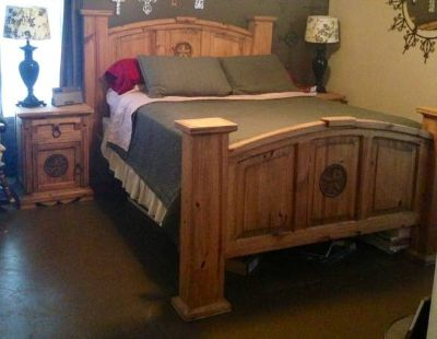 Rustic Furniture, Solid Pinewood bedroom