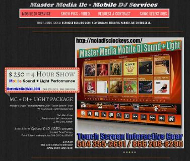 MOBILE DJ ENTERTAINMENT $250  4 Hours  (baton rouge la )