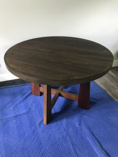"""Dining Table, 48"""" Reclaimed Wood, Four Hands Furniture Austin"""