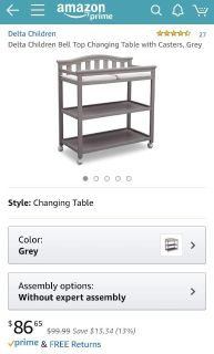 Baby changing table - brand new