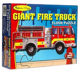 Melissa & Doug Fire Truck Jumbo Jigsaw Floor Puzzle (24 pcs, 4 feet long) Like Brand New Condiiton
