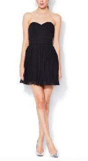 JILL Jill Stuart Black Chiffon Dress New With Tags Size 14