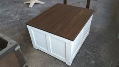 Upcycled reclaimed shipping crate - storage / blanket chest / table / coffee
