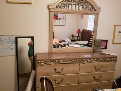 Beautiful dresser with marble top