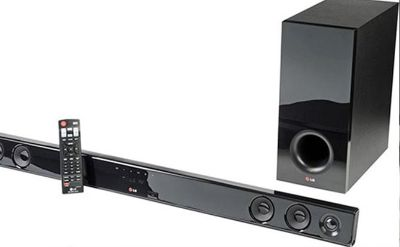 Sound bar and subwoofer