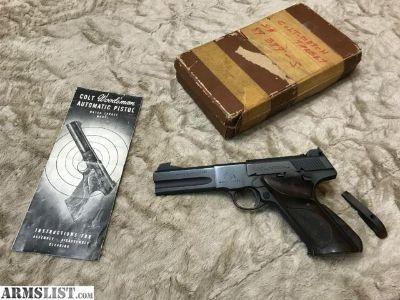 """For Sale: Colt Woodsman Second Series Model .22 LR - Woodsman 2nd Series Match Target .22 LR 4.5"""" Blue (1951)"""