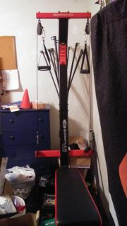 Bowflex pr1000 excellent shape see pics below lookup on utube awesome for young teen or older too