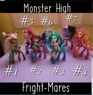 7 Monster High Fright-Mares being sold separately