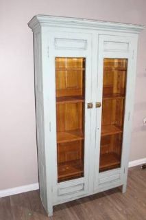Vintage Turquoise / Blue / cupboard / china cabinet