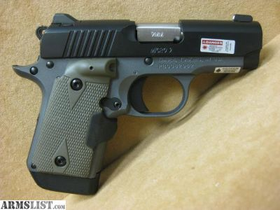 For Sale: KIMBER MICRO 9 WOODLAND NIGHT WITH CRIMSON TRACE GRIPS LIKE NEW