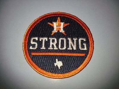 """ASTROS """"Houston Strong"""" Official Game Jersey Logo Patch - New - Call Now!"""