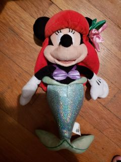 "10"" Minnie Mouse Stuffed Mermaid. 7/15 meet only"