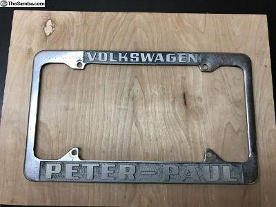 [WTB] Looking for Peter-Paul dealership plate frame