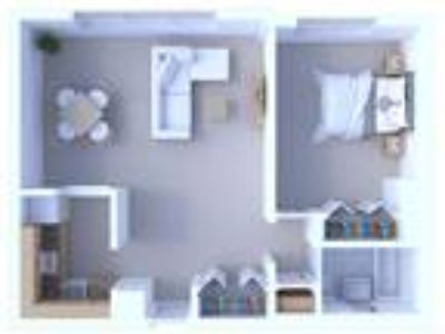 Oglesby Towers Apartments - One BR Floor Plan A3