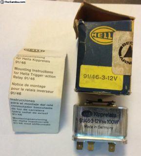 NOS T3 Headlight Relay 311 941 583B 12V 1968-70