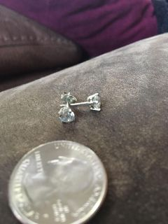 Sterling silver and Cz stone earrings