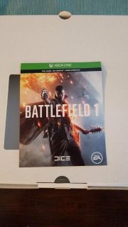 XBOX ONE BATTLEFIEKD 1 GAME, DOWNLOAD WITH CARD, BOUGHT GAME FOR MY GRANDSON, BUT HE'S TOO YOUNG FOR THIS GAME