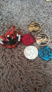 Pokemon Figure and Coins