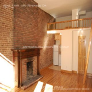 Upper West Side - Spacious Townhouse With Contemporary Design & Mantle Fireplace, exposed brick Loft