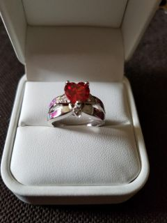 new ruby red redfireopal size 6 heart shape