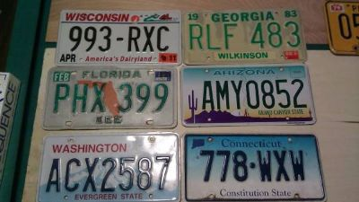 for sale or trade state license plates