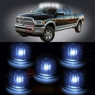 Sell 5x Roof Cab Marker Clearance Light Smoke Lens T10 White LED For CHevy/GMC Pickup motorcycle in Pomona, California, United States