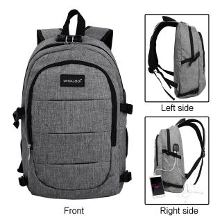 Laptop Backpack With USB Port and Headphone Interface
