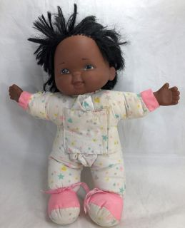 """Eugene Doll Co. Vintage 1993 African American Black 13"""" Baby Doll Style 81470"""