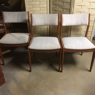 Vintage Danish modern Teak Dining Chairs