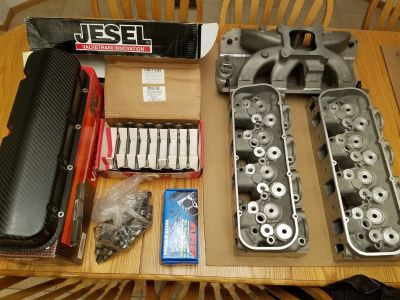 (NEW) BBC Sym Port Heads / intake / carbon valve covers/ etc