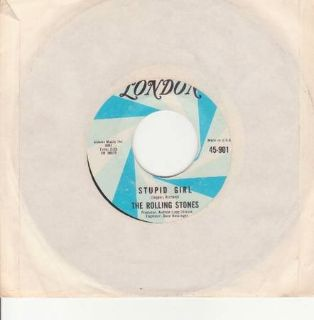 The Rolling Stones Stupid Girl 4 Paint It, Black 45 901 London Records