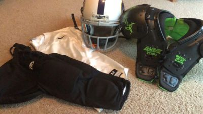 Youth football gear - gently used