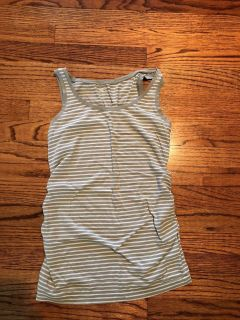 Grey and white Gap Maternity tank size small