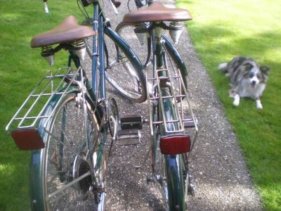 His n Hers mid century vintage retro city road commuter bikes
