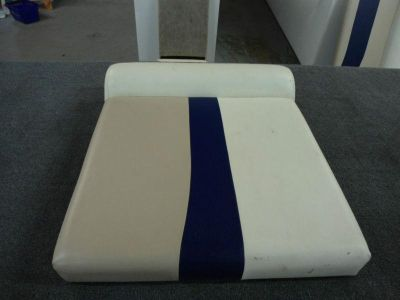 "Buy PONTOON BOAT CUSHION BLUE/WHITE/BEIGE FURNITURE 27.5""x24""x4"" (STOCK #KS-47) motorcycle in Gulfport, Mississippi, US, for US $55.97"