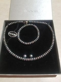 Honora Black Collection Cultured Pearl Set
