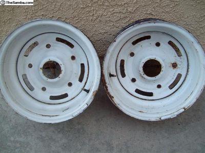 "Rare 15""x 9"" Appliance Pacer wheels (2)"