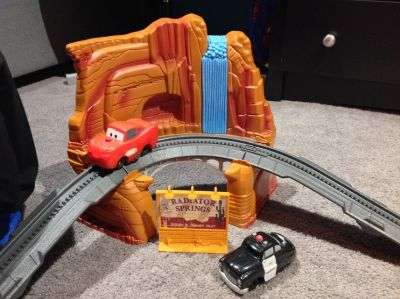 Huge Geo Trax Disney Pixars Car McQueen