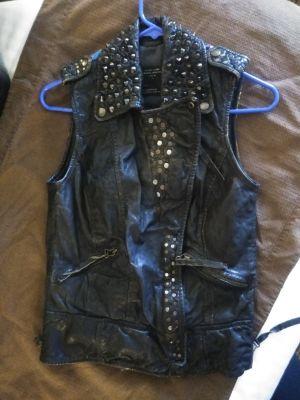 All Saints leather Vest