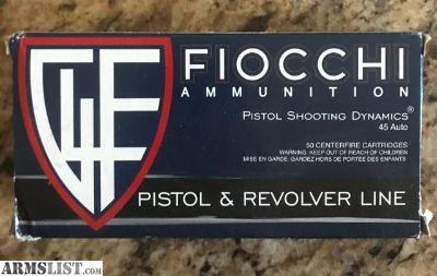 For Sale: Fiocchi Dynamics .45 acp