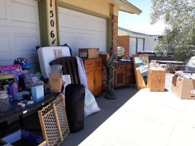 Garage sale today Sunday 23rd