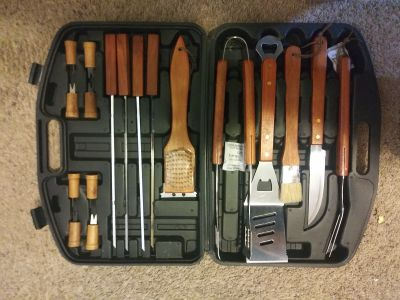 New Iron Bridge 18 pc. BBQ tool set