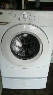 Broken front loading washer w pedestal