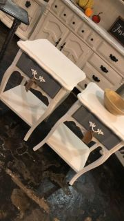 Matching french provincial night stands