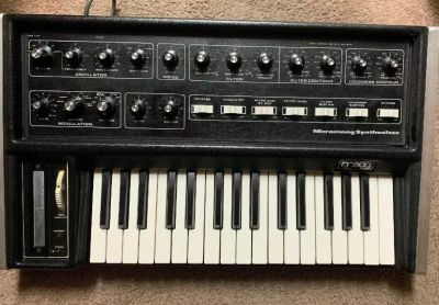 MicroMoog Moog Synthesizer 1970s Vintage