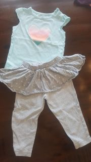Carter's 18 month outfit. Onesie and pants.