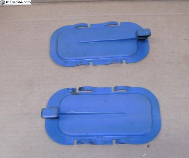 Door panel air-vent door slides -- pair